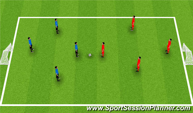 Football/Soccer Session Plan Drill (Colour): Game With Focus On Defending