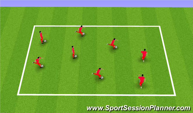Football/Soccer Session Plan Drill (Colour): Ball Mastery Drill