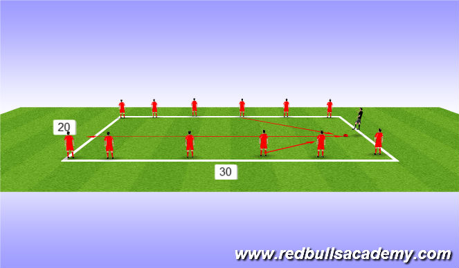 Football/Soccer Session Plan Drill (Colour): Steal the cone and ball