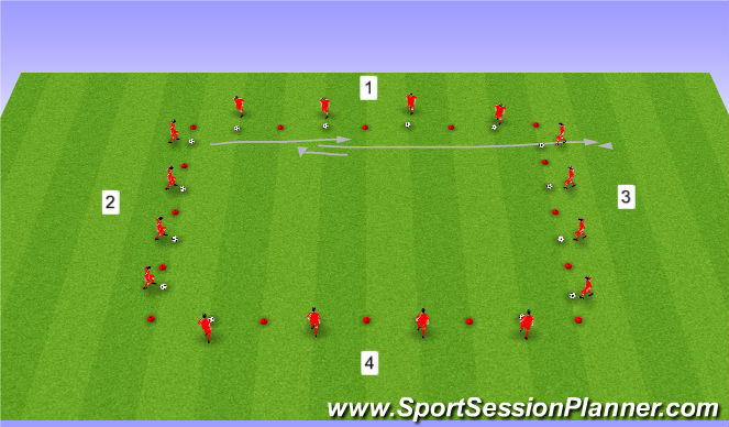 Football/Soccer Session Plan Drill (Colour): Quick Turning & Acceleration