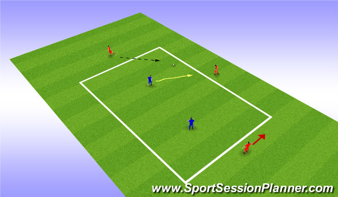 Football/Soccer Session Plan Drill (Colour): pre session warm up