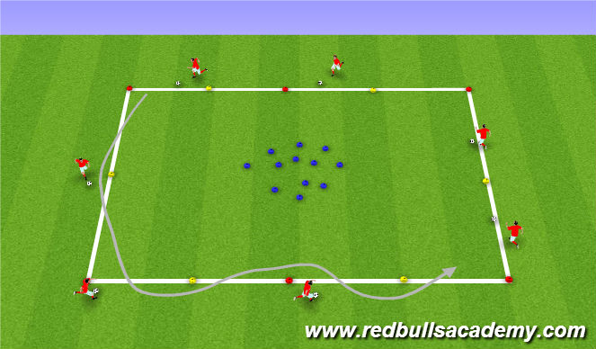 Football/Soccer Session Plan Drill (Colour): Cone Island