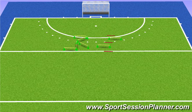 Hockey Session Plan Drill (Colour): Lift tricks