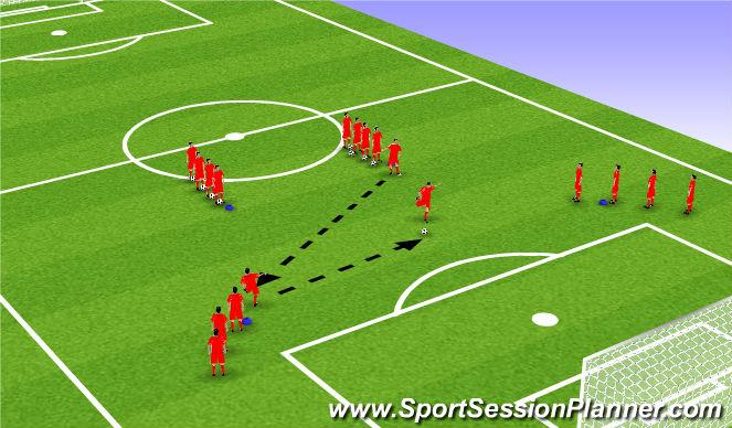 Football/Soccer Session Plan Drill (Colour): Xdrill