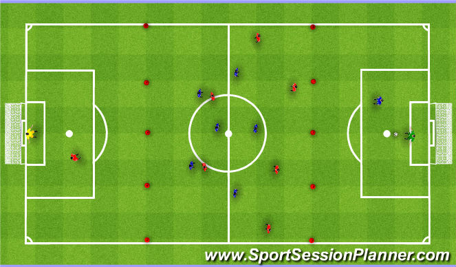 Football/Soccer Session Plan Drill (Colour): Conditioned game. Gra.