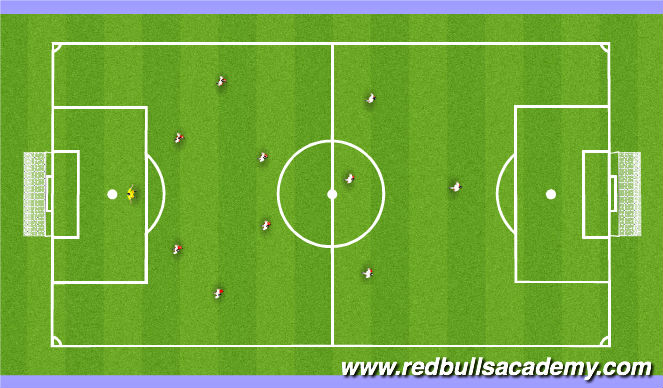 Football/Soccer Session Plan Drill (Colour): 4-2-3-1: Out of Possession