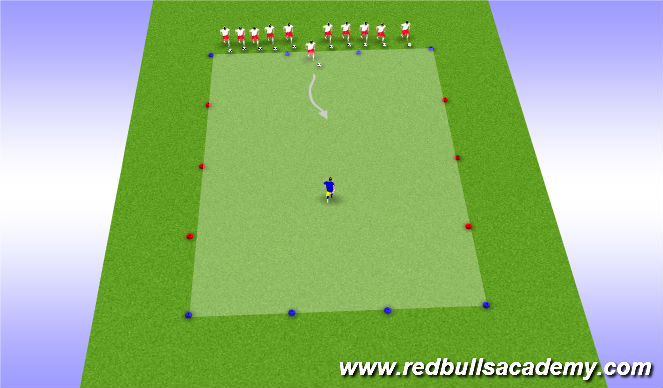 Football/Soccer Session Plan Drill (Colour): Transition to Dribble