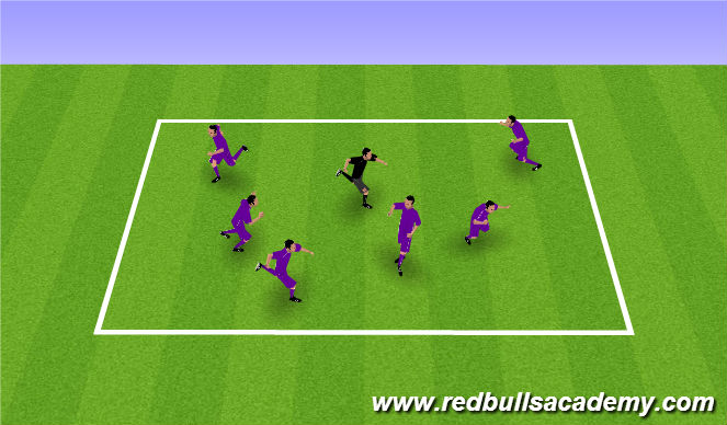 Football/Soccer Session Plan Drill (Colour): Mud Monsters/Freeze Tag