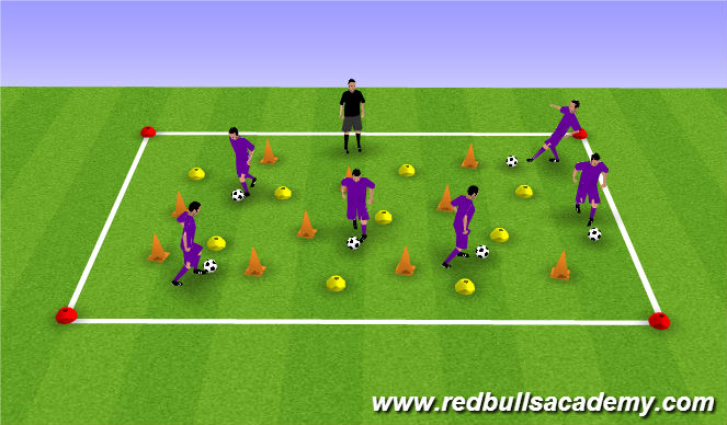 Football/Soccer Session Plan Drill (Colour): Simon says