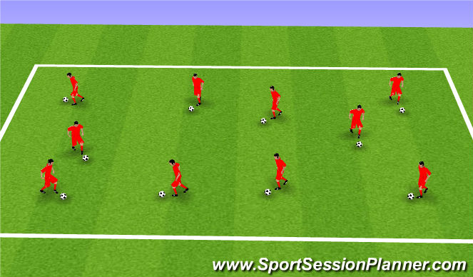 Football/Soccer Session Plan Drill (Colour): Knockout!