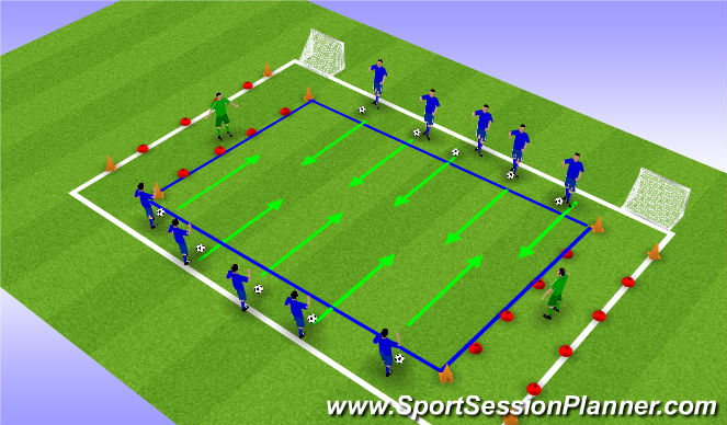 Football/Soccer Session Plan Drill (Colour): Hete aardappel
