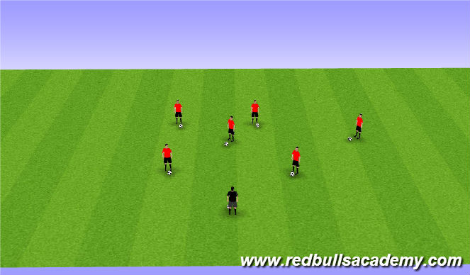Football/Soccer Session Plan Drill (Colour): Ball Mastery/ Prior to beginning of session