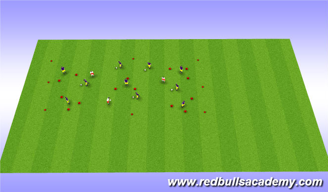 Football/Soccer Session Plan Drill (Colour): Conditioned Game: Triangle tag