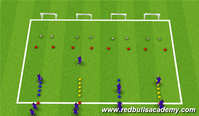 Football/Soccer Session Plan Drill (Colour): Running Technique