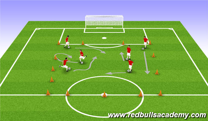 Football/Soccer Session Plan Drill (Colour): Tons of Touches game