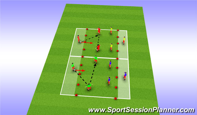 Football/Soccer Session Plan Drill (Colour): Rondos part 1