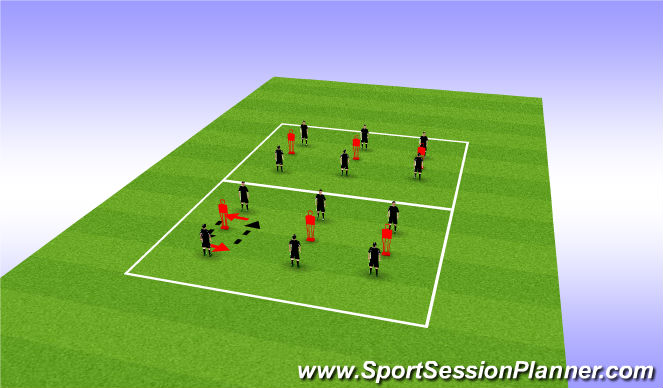 Football/Soccer Session Plan Drill (Colour): Mirror Repitition