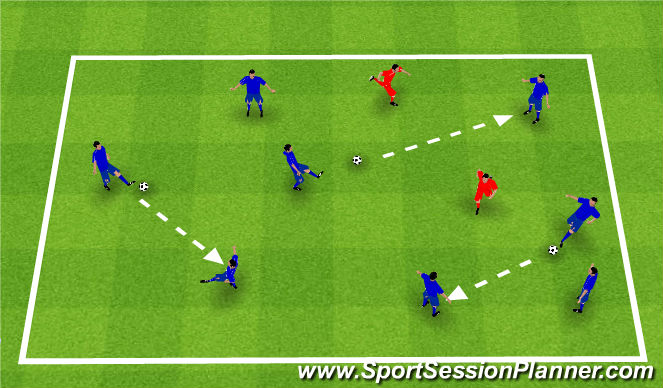 Football/Soccer Session Plan Drill (Colour): Get a ball