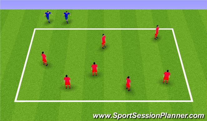 Football/Soccer Session Plan Drill (Colour): Banana Tag