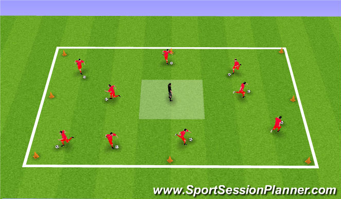 Football/Soccer Session Plan Drill (Colour): Feed The Bears