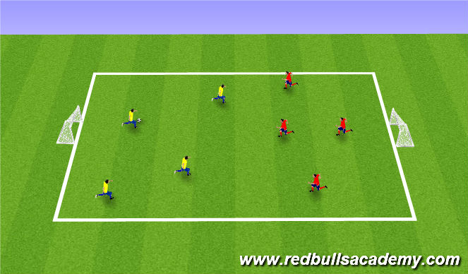 Football/Soccer Session Plan Drill (Colour): 4v4 street soccer