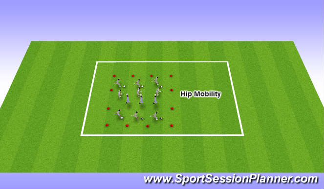 Football/Soccer Session Plan Drill (Colour): Hip Mobility