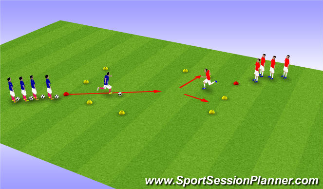 Football/Soccer Session Plan Drill (Colour): A2 D2 With Balls