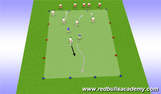 Football/Soccer Session Plan Drill (Colour): Transition to Counter Attack