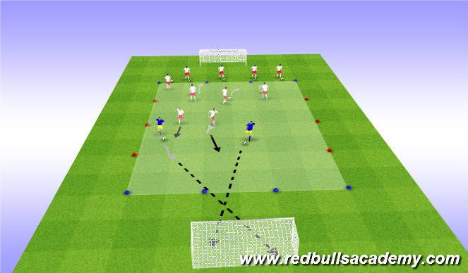 Football/Soccer Session Plan Drill (Colour): Transition to Shoot