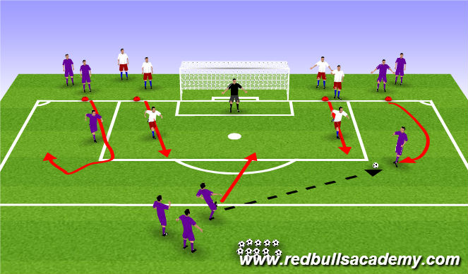 Football/Soccer Session Plan Drill (Colour): Valencia game