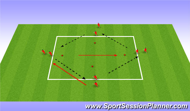 Football/Soccer Session Plan Drill (Colour): Pressing 1 v1s in diamond drill