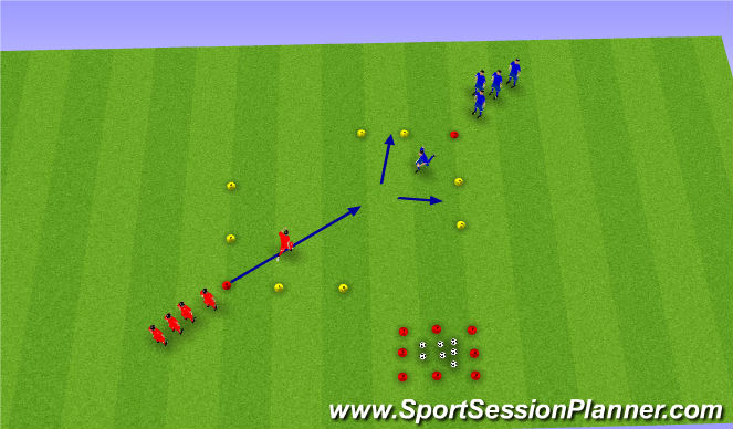 Football/Soccer Session Plan Drill (Colour): A2 D2