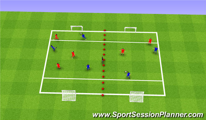 Football/Soccer Session Plan Drill (Colour): Street Soccer Arrival