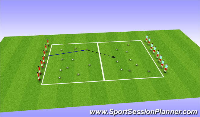 Football/Soccer Session Plan Drill (Colour): Pass the buck