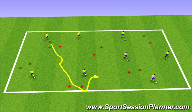 Football/Soccer Session Plan Drill (Colour): Everyone vs Everyone