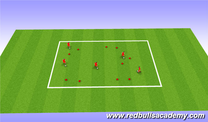 Football/Soccer Session Plan Drill (Colour): Warm Up: Close the Gate (Unopposed)