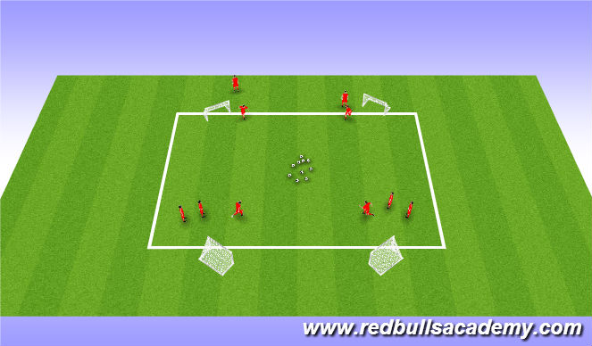 Football/Soccer Session Plan Drill (Colour): Main Theme: Drag Back Turn (Unopposed)
