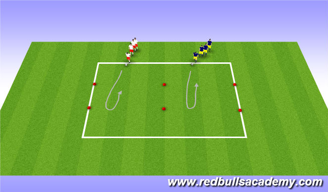 Football/Soccer Session Plan Drill (Colour): Main Theme 1: Turning (Unopposed)