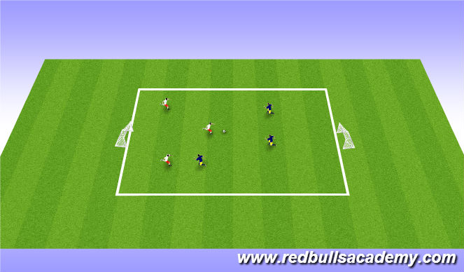 Football/Soccer Session Plan Drill (Colour): Free Play:3v3