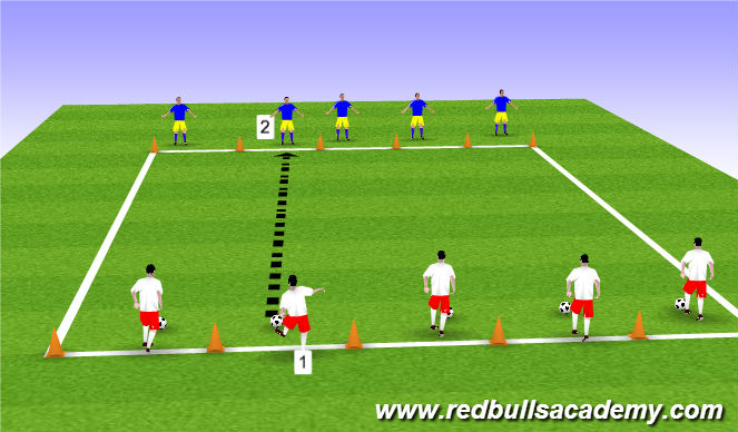 Football/Soccer Session Plan Drill (Colour): Main 1