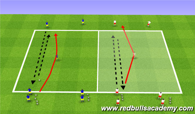 Football/Soccer Session Plan Drill (Colour): Passing and receiving 2