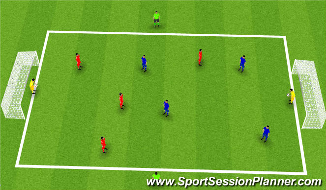 Football/Soccer Session Plan Drill (Colour): Nuno Rosa Running with the ball-possession Small Sided Game
