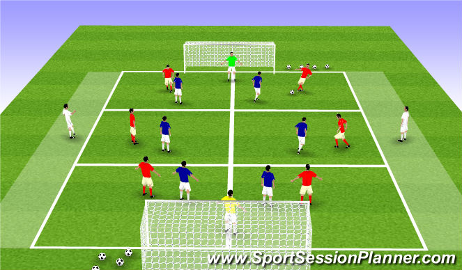 Football/Soccer Session Plan Drill (Colour): Quick Passing / Receiving in a SSG