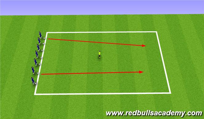 Football/Soccer Session Plan Drill (Colour): Avoid the Blob