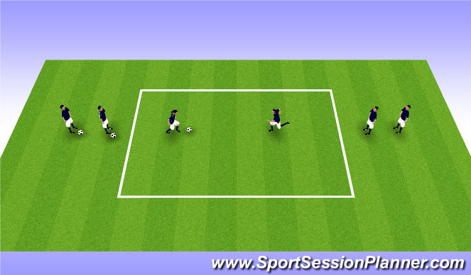 Football/Soccer Session Plan Drill (Colour): 1v1 attacking moves