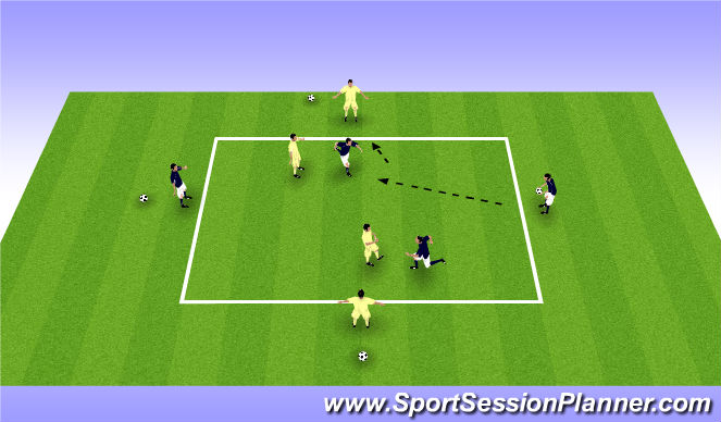 Football/Soccer Session Plan Drill (Colour): Volley Game