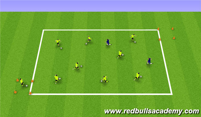 Football/Soccer Session Plan Drill (Colour): Knockout Game
