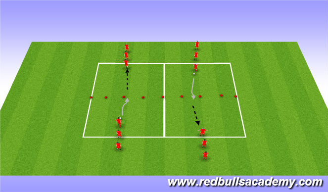 Football/Soccer Session Plan Drill (Colour): Warm Up: First Touch