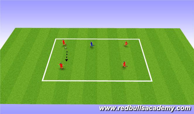 Football/Soccer Session Plan Drill (Colour): Main Theme: 4v1 (Semi opposed)