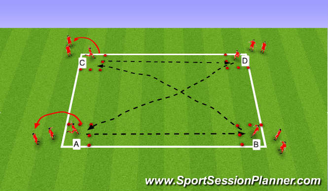 Football/Soccer: Switching Play (Tactical: Switching play, U9)